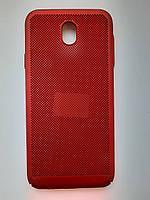 Чохол накладка для Samsung J730 пластик червоний