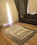 Красивий багатий килим в стилі модерн з візерунком версаче під золото, фото 2