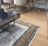 Красивий багатий килим в стилі модерн з візерунком версаче під золото, фото 3
