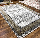 Красивий багатий килим в стилі модерн з візерунком версаче під золото, фото 4