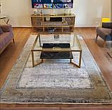 Красивий багатий килим в стилі модерн з візерунком версаче під золото, фото 5