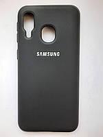 Чохол накладка для Samsung A40 силікон чорний