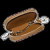 Ключница CITROEN, кожаная автоключница с логотипом  СИТРОЕН (коричневая 17001), фото 2