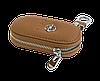 Ключница OPEL, кожаная автоключница с логотипом  ОПЕЛЬ (коричневая 18001), фото 4