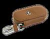 Ключница OPEL, кожаная автоключница с логотипом  ОПЕЛЬ (коричневая 18001), фото 5