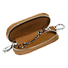 Ключница PEUGEOT, кожаная автоключница с логотипом  ПЕЖО (коричневая 19001), фото 2