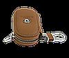 Ключница SKODA, кожаная автоключница с логотипом  ШКОДА (коричневая 22001), фото 3