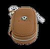 Ключница SKODA, кожаная автоключница с логотипом  ШКОДА (коричневая 22001), фото 6