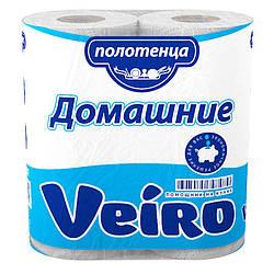 Паперові рушники кухонні Veiro Домашні, білий, 2-сл.