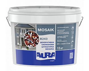 Штукатурка кварцевая AURA LUX PRO MOZAIK M15 мозаичная (зерно 1,5 мм) B243 15кг