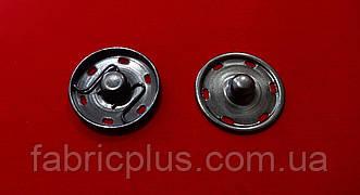Кнопка нержавеющая пришивная 25 мм черненная