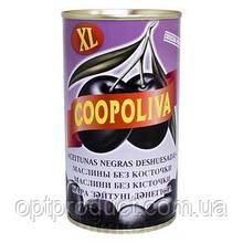 Маслины COOPOLIVA (Испания) без косточки 370г ж/б