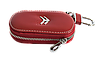 Ключница CITROEN, кожаная автоключница с логотипом  СИТРОЕН (красная 17015), фото 2