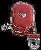 Ключница CITROEN, кожаная автоключница с логотипом  СИТРОЕН (красная 17015), фото 3