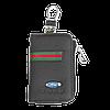 Ключница FORD, кожаная автоключница с логотипом  ФОРД (многофункциональная черная 03012), фото 2