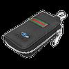 Ключница FORD, кожаная автоключница с логотипом  ФОРД (многофункциональная черная 03012), фото 4