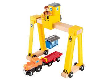Кран с машинками Playtive для деревянной железной дороги Германия IAN 346957