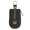 Ключница HONDA, кожаная автоключница с логотипом  ХОНДА (черная 08007), фото 4