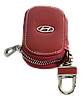 Ключница HYUNDAI, кожаная автоключница с логотипом  ХЮНДАЙ (красная 10015), фото 3