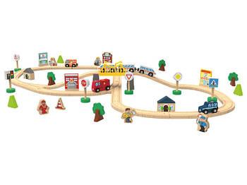 Деревянная железная дорога Playtive City 67 эл. Германия IAN 346920
