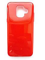 Чохол накладка Shine для Samsung A6 червоний