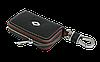 Ключница RENAULT, кожаная автоключница с логотипом  РЕНО (черная 20006), фото 3