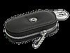 Ключница SKODA, кожаная автоключница с логотипом  ШКОДА (черная 22003), фото 4