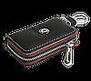 Ключница SKODA, кожаная автоключница с логотипом  ШКОДА (черная 22006), фото 3