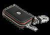 Ключница SKODA, кожаная автоключница с логотипом  ШКОДА (черная 22006), фото 4