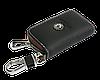 Ключница SKODA, кожаная автоключница с логотипом  ШКОДА (черная 22006), фото 5
