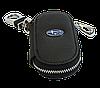 Ключница SUBARU, кожаная автоключница с логотипом  СУБАРУ (черная 21003), фото 4