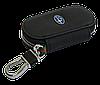 Ключница SUBARU, кожаная автоключница с логотипом  СУБАРУ (черная 21003), фото 5
