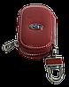 Ключница SUBARU, кожаная автоключница с логотипом  СУБАРУ (красная 21015), фото 3