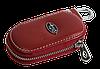 Ключница SUBARU, кожаная автоключница с логотипом  СУБАРУ (красная 21015), фото 4