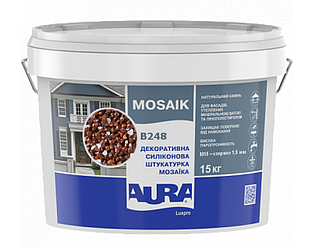 Штукатурка кварцевая AURA LUX PRO MOZAIK M15 мозаичная (зерно 1,5 мм) B248 15кг