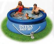 Надувной бассейн Intex 28112 с насосом (244х76см)