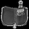 Ключница TOYOTA, кожаная автоключница с логотипом  ТОЙОТА (многофункциональная черная 07012), фото 5