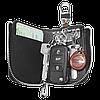 Ключница TOYOTA, кожаная автоключница с логотипом  ТОЙОТА (многофункциональная черная 07012), фото 6