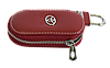 Ключница TOYOTA, кожаная автоключница с логотипом  ТОЙОТА (красная 07015), фото 2