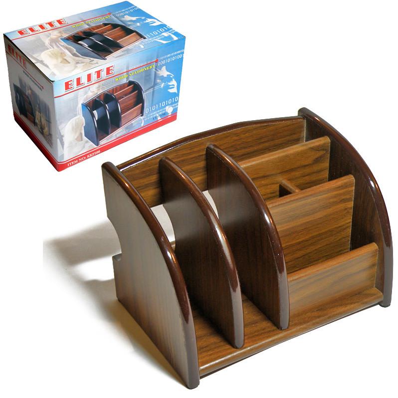 Органайзер настольный, ELITE KKF 506, деревянный