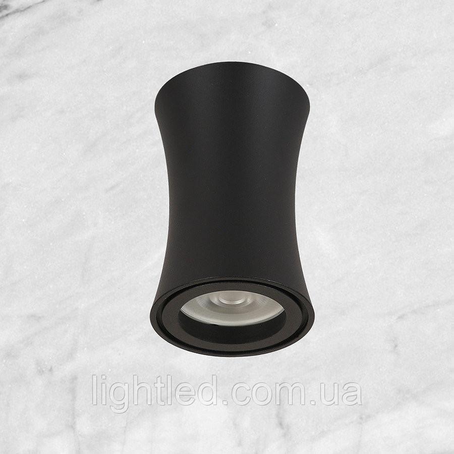 Чёрный светильник со сменной лампочкой