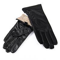 Перчатка Женская кожа F31/19 мод 5 black шерсть.Купить перчатки оптом в Украине по выгодным ценам
