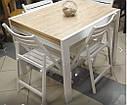 Стол обеденный Слайдер Венге/ ШЕРВУД, 100(+100)*82см, фото 10