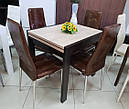 Стол обеденный Слайдер Венге/ ШЕРВУД, 100(+100)*82см, фото 5