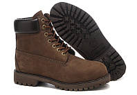 Ботинки мужские Timberland Classic 6 inch Bown Boots (тимберленд) коричневые