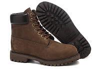 Ботинки мужские Timberland Classic 6 inch Bown Boots (тимберленд) коричневые, фото 1