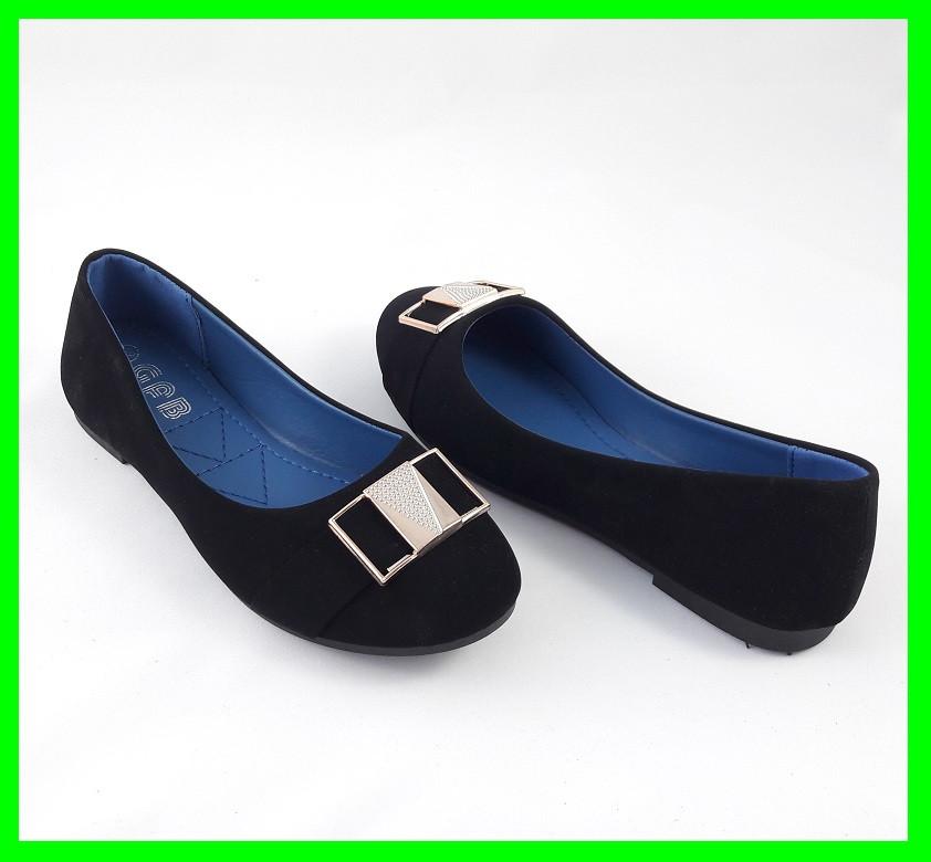Женские Балетки Чёрные Мокасины Туфли (размеры: 38)