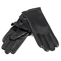 Перчатка Женская кожа F31/19-1 мод 4 black флис .Купить перчатки оптом в Украине по выгодным ценам