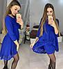 Ошатне плаття міні з незвичайною баскою і рукавами, фото 4
