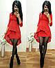 Ошатне плаття міні з незвичайною баскою і рукавами, фото 6